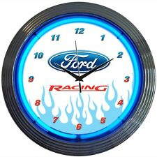 Ford Racing Neon Clock 8FRACE w/ FREE Shipping