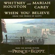 MARIAH CAREY/WHITNEY HOUSTON - When You Believe (Prince of Egypt) Single CD
