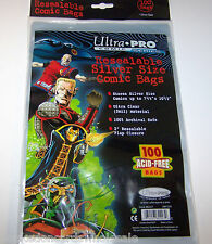 """1 case of 1000 Ultra Pro 7 1/4"""" Silver Comic Book Storage Bags RESEALABLE"""