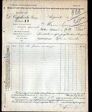 """AVIGNON (84) USINE de COURROIES Cuir pour TRANSMISSIONS """"D. CAPDEVILA"""" en 1910"""