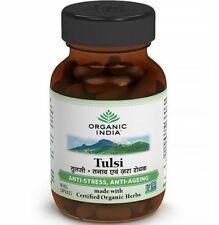 2 X Organic India TULSI Herbal Holy Basil Supplements 60 Veg Capsules