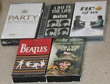 Lot - 5 Beatles related VHS tapes.TheCompleat2ofUS.DayinTheLife.Party@Palace.War