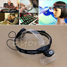 5Lens LED Light Head Lamp Loop Headband Magnifier Magnifying Glass Loupe Upto 6X