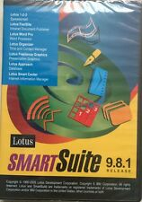 New LOTUS 123 SMARTSUITE 9.8.1 Organizer Approach Word Pro for Windows XP 7 8 10
