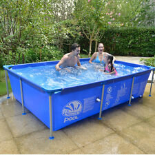 Family Baby Kids Metal Support Swimming Pool Outdoor Living Swim 74''x50''x17''
