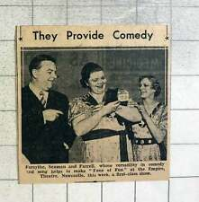 1939 Forsythe, Seaman And Farrell Provide Comedy Empire Theatre