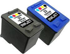 2PK Ink Cartridge FOR HP 21 22 HP21 HP22 C9351AN C9352AN DESKJET D2345 COMBO