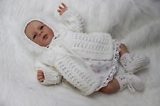 "'Candice'  - Hand-Knitted Outfit for Reborn Doll (18"" long) m4d114"