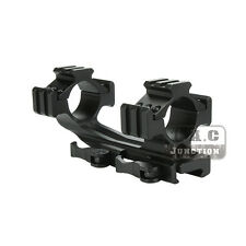 Tactical 25.4mm/30mm Quick Release Dual Ring Tri-Side Scope Mount for 20mm Rail