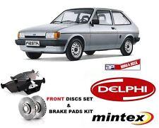 Para Ford Fiesta Fbd 1.6 Xr2 Mk Ii 1984-1989 Delantera Pastillas De Freno + Discos De Freno Set