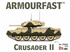 NEW Armourfast 1/72 British Crusader II Tank  Model Kit -Contains 2 Tanks-99026