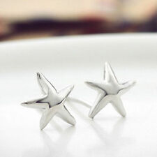 Sea Star Sterling Silver S925 Earrings Love Heart Gift Her Stud MOM Wedding-ER35