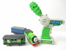 """""""HARD AT WORK PERCY w/ SODOR MAIL COACH"""" RC REMOTE CONTROL MOTORIZED TRACKMASTER"""