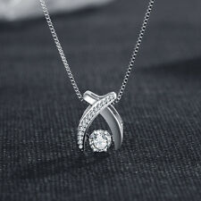 New 925 Sterling Silver Shine Pendant Necklace Womens Jewellery Valentine Gifts