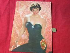 Vintage 1940's Pin up  Black Dress  DOW Print & Original Jean Vougeot Label
