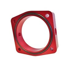 Torque Solution Throttle Body Spacer Red Fits Nissan / Infiniti VQ35DE Engine