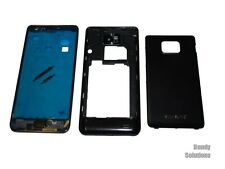 Samsung I9100 Galaxy S2 Front Rück Cover Akku Deckel Home Button Original black