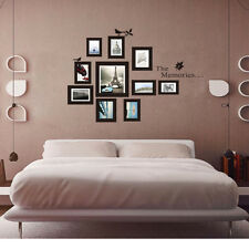 Home Decor Art 10Pcs Picture Photo Frame Set Vinyl Wall Sticker Decal Removeable