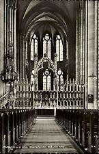 Marburg Lahn Hessen Kirche Altar 1956 mit Bahnpost-Stempel Zug 0475 gelaufen