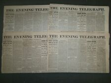 1873 THE EVENING TELEGRAPH NEWSPAPER LOT OF 7 - NICE ADVERTISEMENTS - NP 1441