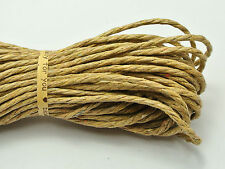 60 Meters Khaki Twisted Waxed Cotton Cord String Thread Line 2mm