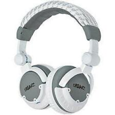 Urbanz Block Full Size Over Ear Stereo Headphones DJ Style Swivel - Grey & White