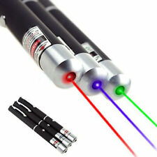 Professional 3X 5mw Laser Pointer Pen Red+Green+Blue/Violet Laser Visible Light