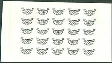 MAURITANIA Olympic Games Rome-Tokyo PROOFSHEET of the large overprint MNH
