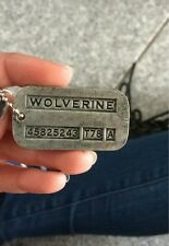 Wolverine Logan Dog Tag Pendant Necklace - Marvel Comics Weapon-X
