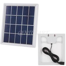5V 4W Solare Pannello USB Polisilicio Caricabatterie Universale per Cellulari