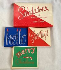 Vintage Boxed Salutations Christmas Cards by Gibson 20 Cards 3 Views Unused