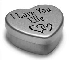 I Love You Elle Mini Heart Tin Gift For I Heart Elle With Chocolates or Mints