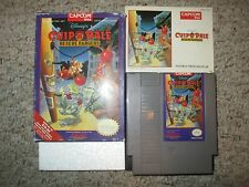 Disney's Chip 'N Dale: Rescue Rangers (Nintendo NES, 1990) Complete in Box GOOD