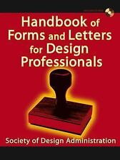 Handbook of Forms and Letters for Design Professionals-ExLibrary