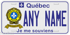 Surete Du Quebec Any Name Personalized Police Novelty Car License Plate
