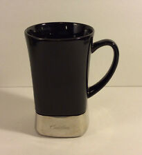 Sovrano Cadillac Black Ceramic w/ Stainless Steel Base Coffee Mug Cup