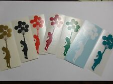 Banksy Balloon girl  Vinyl die cut decal sticker 1 per purchase choose color