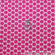 BonEful Fabric FQ Cotton Quilt Pink White Circle Polka Dot Stripe Breast Cancer