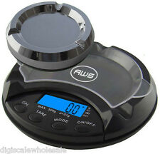 Ash Tray Scale AWS AT-500 Smokers Digital Pocket 500g x 0.1 Gram American Weigh
