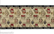 Rustic Coffee Break Cup Tapestry Dinning Table Runner Java Mocha Kitchen Decor