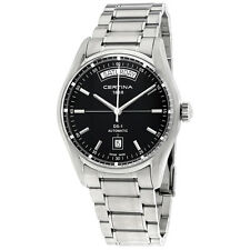 Certina DS 1 Automatic Day Date Black Dial Ladies Watch C0064301105100