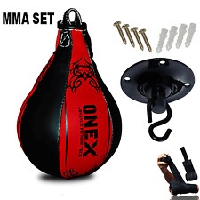 New MMA Speed Ball Pear Shape Punching Bag With Swivel Free Gift Hand Wraps