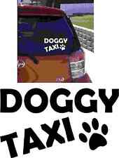 DOGGY Taxi Car Adesivo Decalcomania In Vinile Cane Paw