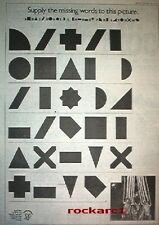 PETER GABRIEL D.I.Y ( crosses) 1978 UK Poster size Press ADVERT 16x12 inches