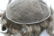 Mens French Lace 100% Human Indian Hair Toupee