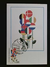 Italia MK 1978 giorno della marca bandiere maximum carta carte MAXIMUM CARD MC cm c8249