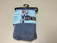 NWT Women's Hue Super Smooth Denim Jeans Leggings Size Small Vintage Wash #419P