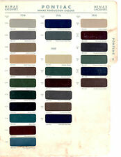 1936 1937 1938 PONTIAC MASTER DELUXE SIX EIGHT 363738 PAINT CHIPS MIMAX PPG