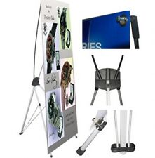 "X Banner Stand 24"" x 63"" w/ Free Bag ,  Trade Show Display Pop Up Advertising"