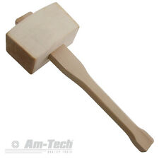"AM-TECH 4.5"" WOODEN MALLET TRADITIONAL FOR CHISELS DIY WOODWORK CAMPING A1500"